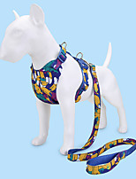 cheap -Dog Cat Pets Collar Leash Cute and Cuddly Decoration Nylon Blue