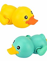 cheap -kids bath toy wind-up swimming duckling clockwork bathtub toy water toy for toddlers (yellow+green)