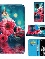 cheap -Case For Samsung Galaxy Note 20 Galaxy Note 20 Ultra Galaxy A21s Wallet Card Holder with Stand Full Body Cases Chrysanthemum PU Leather TPU for Galaxy A51 5G Galaxy A71 5G Galaxy S20 Ultra