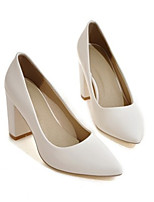 cheap -Women's Heels Wedge Heel Pointed Toe Minimalism Daily Solid Colored PU Almond / White / Black