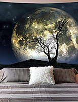 cheap -Wall Tapestry Art Decor Blanket Curtain Picnic Tablecloth Hanging Home Bedroom Living Room Dorm Decoration Polyester Moon Tree Night View