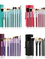 cheap -12 Pcs Cylinder Makeup Brush Beauty Tools Wool Makeup Brush Set Cylinder Animal Hair Makeup Brush Set