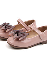 cheap -Girls' Flats Flower Girl Shoes PU Little Kids(4-7ys) / Big Kids(7years +) Walking Shoes Bowknot Black / Red / Pink Spring / Fall