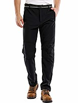 cheap -men's snow hiking pants skiing winter insulated soft shell outdoor motorcycle hiking trousers (2 black, 34)
