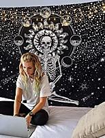 """cheap -skull tapestry wall hanging large tapestries, black and white tapestry, meditation skeleton stars tapestry chakra tapestry for men,boho wall tapestry for bedroom & #40;skull, 59.1"""" x 78.8""""&"""