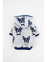 cheap -grey french bulldog, dog hoodie - excellent weight for morning, evening falls - great dog hoodies with stylish prints- unisex, hygienic dog wear cloth - 100% guaranteed satisfaction
