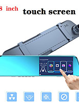 cheap -Full Hd Touch Screen 1080P Auto Dvr Camera Auto 5.18 Inch Achteruitkijkspiegel Digitale Video Recorder Dual Lens Registratory camcord