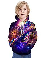 cheap -Kids Boys' Active Basic Geometric 3D Graphic Print Long Sleeve Hoodie & Sweatshirt Purple