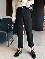 cheap -Women's Basic Daily Harem Pants Solid Colored Breathable Black Khaki S M L