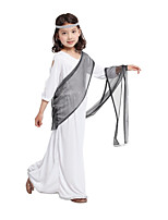cheap -Princess Dress Cosplay Costume Outfits Party Costume Kid's Girls' Cosplay Vacation Dress Halloween Halloween Festival / Holiday Spandex White Easy Carnival Costumes / Shawl / Headwear / Shawl