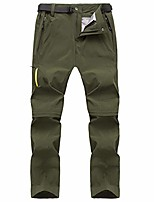 cheap -men's outdoor quick dry convertible pants lightweight hiking camping cargo shorts army green, 30w x 31l