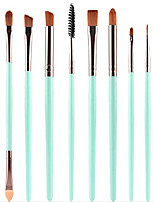 cheap -set of 8pcs diy eye brushes set eyeliner eyeshadow blending pencil brush foundation cosmetic makeup & #40;green coffee& #41;