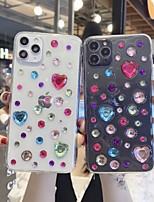cheap -Case For Apple iPhone 7 7Plus iPhone 8 8Plus iPhone X iPhone XS XR XS max iPhone 11 11 Pro 11 Pro Max SE Pattern Back Cover Heart Transparent TPU