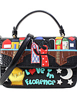 cheap -Women's Bags PU Leather Crossbody Bag Zipper Embossed for Christmas Gifts / Party / Halloween Black / Red / Green
