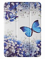 cheap -Case For Apple iPad mini 1/2/3 7.9'' iPad mini 4 7.9'' iPad mini 5 7.9'' with Stand Flip Pattern Full Body Cases Blue Butterfly PU Leather TPU