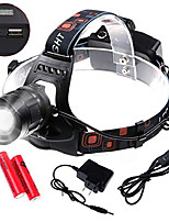 cheap -zoomable led headlamp - (tm) 1800 lumens cree xm-l2 headlight, waterproof 5 modes flashlight torch with rechargeable batteries charger usb cable for outdoor, riding, hunting, hiking, camping