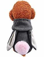 cheap -dog clothing dog hoodie woolen cloth grbt (l, grey)