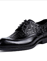 cheap -Men's Oxfords Business / Casual / British Party & Evening Office & Career Leather Breathable Wear Proof Black / Coffee Fall / Winter