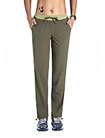 cheap -women's quick dry hiking mountain sports pants with elastic waist green s/30 inseam