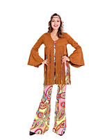 cheap -Hippie Disco Retro Vintage Hippie 1970s Disco Summer Outfits Masquerade Women's Costume Brown Vintage Cosplay Party Halloween Masquerade Long Sleeve / Leotard / Onesie / Top