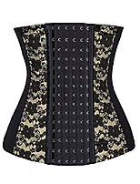 cheap -womens firm control tummy trimmer shapewear waist nipper(black lace, 3xl)