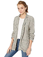 cheap -by bb dakota junior's girlfriend rayon stripe boyfriend blazer, ivory, small