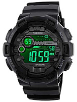 cheap -mens digital led sports watch military multifunction dual time alarm countdown stopwatch 12h/24h time backlight 164ft 50m waterproof calendar month day date watch (black)