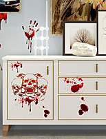 cheap -Horror Blood Handprint Halloween Wall Stickers Decorative Wall Stickers, PVC Home Decoration Wall Decal Wall Decoration / Removable