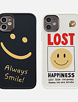 cheap -Case For Apple iPhone 11 Shockproof / Dustproof / Plating Back Cover Word / Phrase / Cartoon TPU For Case iphone 11 Pro/11 Pro Max/7/8/7P/8P/SE 2020/X/Xs/Xs MAX/XR