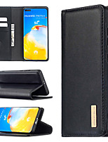 cheap -Case For Huawei Y6(2019) Y5P Y6P Y7P P40 P40lite P40lite E P40Pro Honor 9S 8A Card Holder Shockproof with Stand Full Body Cases Solid Colored Genuine Leather TPU