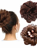 cheap -messy bun hair piece thick updo scrunchies synthetic hair extensions ponytail hair wig hairpiece dark auburn