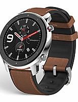 "cheap -gtr smartwatch, smart notifications, 1.39"" amoled display, 24/7 heart rate monitor, 24-day battery life, 12-sport modes (47mm, gps, bluetooth), stainless steel"