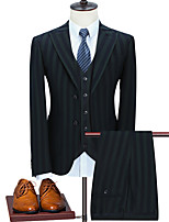 cheap -Tuxedos Tailored Fit Peak Single Breasted Two-buttons Polyester Striped / Classic