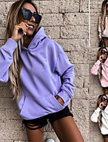 cheap -Women's Hoodie Front Pocket Hoodie Solid Color Sport Athleisure Pullover Long Sleeve Warm Soft Comfortable Everyday Use Daily General Use