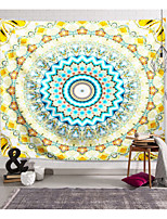cheap -Wall Tapestry Art Decor Blanket Curtain Picnic Tablecloth Hanging Home Bedroom Living Room Dorm Decoration Polyester Yellow Blue Floral Mandala View