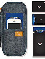 cheap -passport wallet linene gray with rfid stop