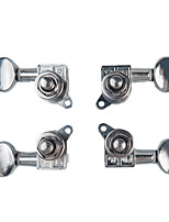 cheap -NAOMI 2L&2R Ukulele String Tuning Pegs Enclosed Tuners Nickel Machine Head with Plastic Buttons Furules Mounting Screws Keys
