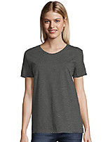 cheap -womens comfortsoft relaxed fit v-neck t-shirt, xl charcoal heather