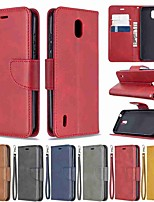 cheap -Case For Nokia 1.3 Nokia 2.3 Nokia 5.3 Wallet Card Holder with Stand Full Body Cases Solid Colored PU Leather TPU for Nokia 3.2 Nokia 7.2 Nokia 2.2 Nokia 4.2 Nokia 1 Plus