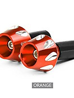 cheap -pair cnc universal motorcycle aluminum handle hand grips bar end - orange