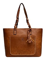 cheap -Women's Bags PU Leather Top Handle Bag Zipper for Daily / Date Dark Brown / Black / Red / Brown