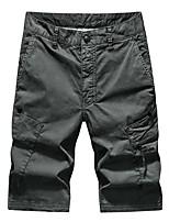 cheap -Men's Hiking Shorts Outdoor Breathable Quick Dry Sweat-Wicking Multi Pocket Shorts Bottoms Shallow army black. Grey khaki Camping / Hiking Hunting Fishing 36 38 29 30 31