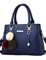 cheap -Women's Bags PU Leather Top Handle Bag Zipper for Daily / Date Wine / Black / Blushing Pink / Dark Purple / Dark Blue
