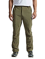 cheap -men's outdoor quick dry lightweight hiking mountain pants with zipper pockets army green s