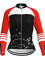 cheap -21Grams Women's Long Sleeve Cycling Jersey Winter Polyester Purple Yellow Red Novelty Bike Jersey Top Mountain Bike MTB Road Bike Cycling Quick Dry Back Pocket Sports Clothing Apparel / Micro-elastic