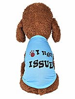 cheap -wakeu dog clothes for small dogs boy yorkies girl chihuahua summer fall - puppy cat shirt i have issure vest tank tops - pet schnauzer female male clothing