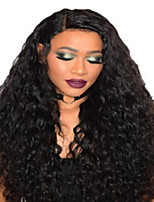 cheap -Synthetic Wig Curly Afro Curly Middle Part Wig Medium Length Natural Black Synthetic Hair Women's Fashionable Design Fluffy Black