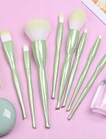 cheap -8 Pcs Makeup Brush Apple Green Set Loose Powder Brush Blush Brush Eye Shadow Brush Acrylic Handle Beauty Tool Set Brush