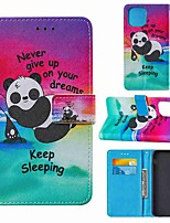 cheap -Case For Apple iPhone 11 iPhone 11 Pro iPhone 11 Pro Max Wallet Card Holder with Stand Full Body Cases Panda PU Leather TPU for iPhone 12 iPhone Xs Max iPhone Xr iPhone Xs iPhone X
