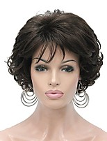 cheap -short chestnut brown curly synthetic wig full wigs women's thick hair for everyday (6-chestnut brown)